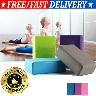 AU12.99 • Buy 2Pcs Yoga Block Brick Foaming Home Exercise Practice Fitness Gym Sport Tool AU