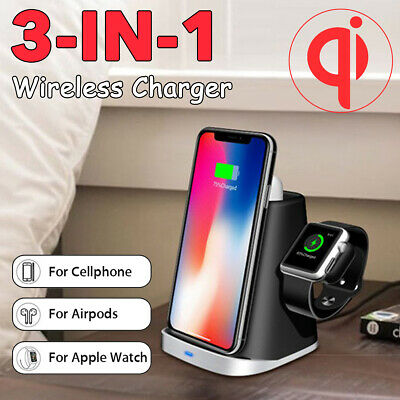 AU36.99 • Buy Fast Wireless Charger And Watch 3-in-1 For Airpods For Iwatch For Iphone 11 Pro