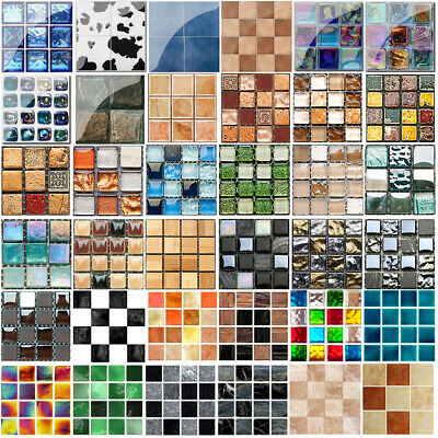 10/30pcs Kitchen Tile Stickers Bathroom Mosaic Sticker Wall Decors Self-adhesive • 3.95£