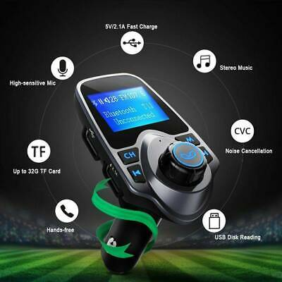 USB Charger Wireless Bluetooth Kit FM Transmitter Car Radio Adapter MP3 Player  • 8.99£