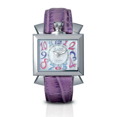 GaGà Milano Quartz Ladies Watch Napoleone Lilac 40MM Stainless Steel 6030.7 • 449£