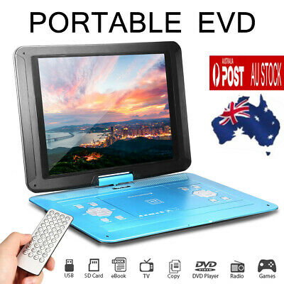 AU75.99 • Buy 9.8''/13.9'' Inch Portable DVD Player EVD TV USB Game Rotate Screen Remote 2021