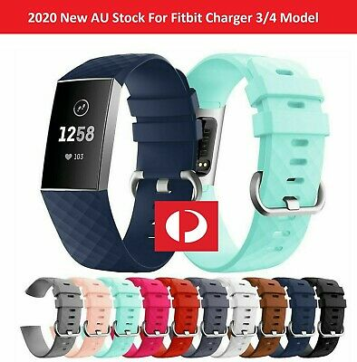 AU4.99 • Buy Fitbit Charge 3/ 4 Watch Band Strap Replacement Wristband Soft Silicone Bracelet