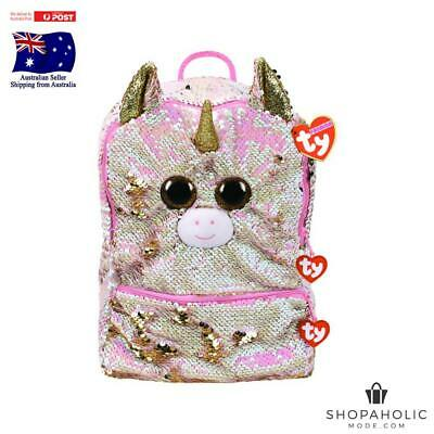 AU44.88 • Buy Ty Beanie Fashion -  Fantasia The Unicorn Square Sequin Backpack