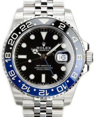 $ CDN26692.32 • Buy Rolex NEW GMT-Master II Black/Blue Mens Ceramic Steel Box/Papers BATMAN 126710