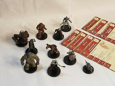 AU32.96 • Buy D&D Miniatures Game Deathknell Lot Of 10 Small & Medium RPG Minis W/Stat Cards#2