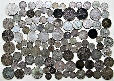 470g Foreign Silver & Rare Coins - French, Holland, Swiss, Austria, S.Africa Etc • 30£