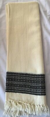 £7.99 • Buy Large Handwoven Pure Cashmere Scarf Cream
