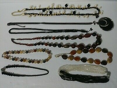 $ CDN39.55 • Buy Lot Of 8 Vintage Costume Jewelry Necklaces