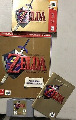 $78 • Buy Legend Of Zelda Ocarina Of Time N64 COMPLETE In Box Plus Strategy Guide!