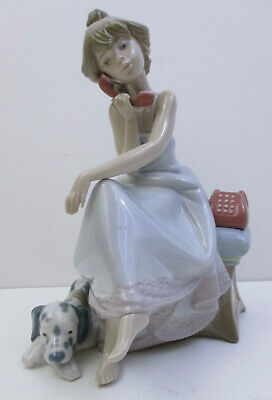 $106.76 • Buy LLADRO 5466 -  CHIT CHAT  GIRL On PHONE FIGURINE 7 3/4  TALL MINT(AX1)