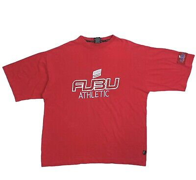 $ CDN29.46 • Buy Vintage FUBU Mens Red T Shirt Size XL Embroidered Hip Hop Rap 90's
