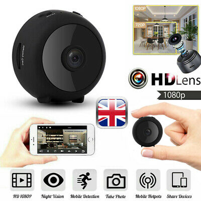 View Details Mini Wireless Wifi Hidden Spy Camera Home Security HD 1080P DVR Night Vision UK • 31.99£