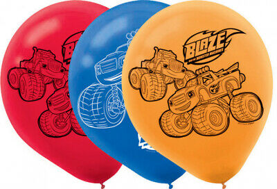 BLAZE MONSTER MACHINES Pack Of 6 Party Balloons Kids Birthday Decorations Helium • 3.20£