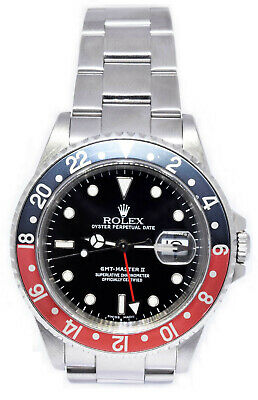 $ CDN15018.18 • Buy Rolex GMT-Master II Steel Red/Black Coke Bezel Mens 40mm Watch 16710