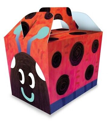 Ladybird Party Food Boxes For Kids Party Loot Bags • 2.99£
