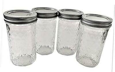 $20.50 • Buy Mason Ball Jelly Jars-12 Oz. Each - Quilted Crystal Style-Set Of 4