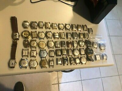 $ CDN1959.97 • Buy Lot Of 57 Vintage Wristwatches Including Hamilton, Elgin, Bulova And More!
