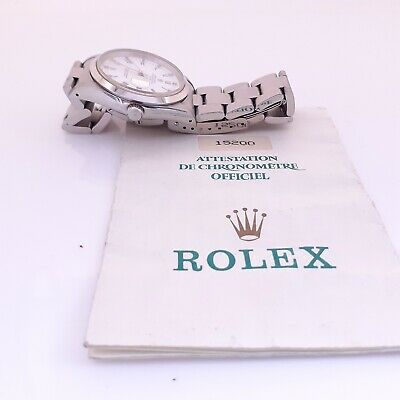 $ CDN4804.39 • Buy Rolex Date 34 Mm Steel Automatic Oyster Roman Watch 15200 With Papers 1990