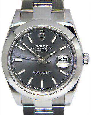 $ CDN10879.84 • Buy Rolex Datejust 41 Steel Rhodium Dial Oyster Bracelet Watch Box/Papers 126300