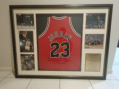 AU10000 • Buy Michael Jordan Signed Jersey Framed Chicago Bulls Jersey Jordan Singlet Signed