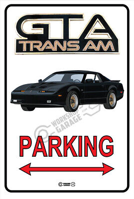$14.67 • Buy Parking Sign Metal  - PONTIAC TRANS AM 1987 GTA BLACK