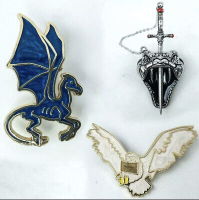 $14 • Buy 3 PIN Harry Potter Nagini Horcrux Thestral Hedwig Pin And ManDrake Pendant Gift