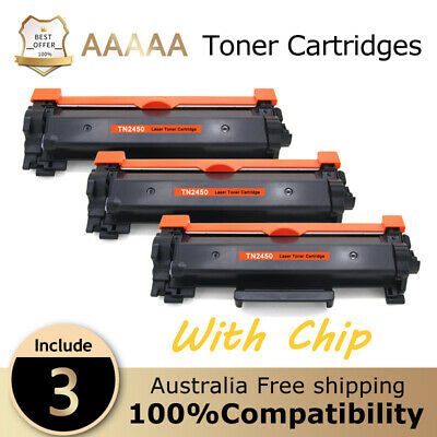 AU37.58 • Buy 3 TN2450 With Chips Toner For Brother MFC-L2713DW MFC-L2730DW MFC-L2750/ L2350DW