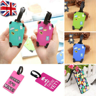 £1.99 • Buy Silicone Luggage Tags Labels Suitcase Baggage Travel Name Address ID Tag Label