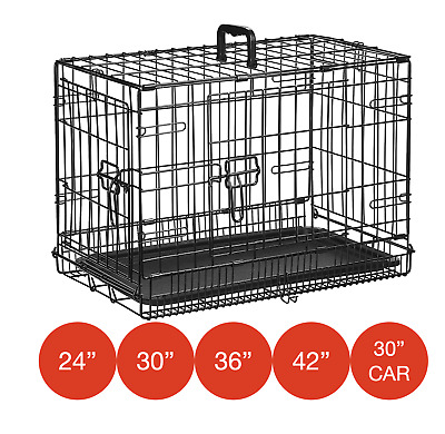 £51.95 • Buy Folding Metal Dog Cage By Mr Barker Puppy Training Crates 5 Sizes 24-42 Inch
