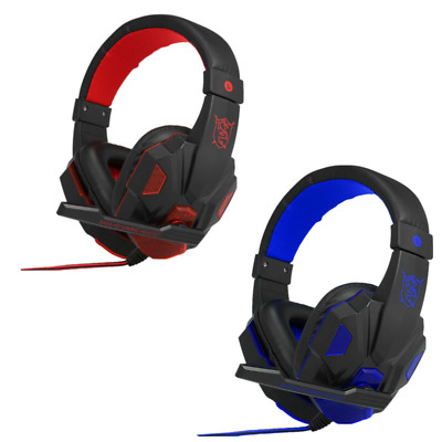 AU21.26 • Buy 3.5mm LED Light Gaming Headset Headphones With MIC For PC Desktop And Laptop