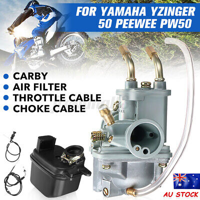 AU48.49 • Buy CARBY AIR FILTER Throttle Cable For YAMAHA PEEWEE PW50 PY50 YZINGER 50