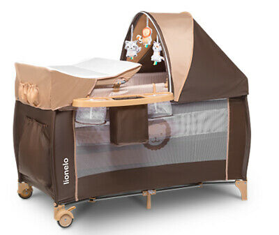 AU171.30 • Buy Baby Bed Toddler Kids Travel Cot Changing Accessories Sven Lionelo Brown/beige