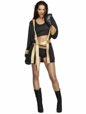 £32.90 • Buy Fever Knockout Boxer Boxing Gloves Fighting Adult Womens Halloween Costume 31126