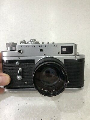 Vintage Zorki 4 Rangefinder Film Camera With Jupiter 8 2/50 Lens • 0.99£
