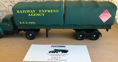 $39 • Buy CORGI Classics 1:50 Scale Railway Express Agency Tractor & Trailer  (O Scale)