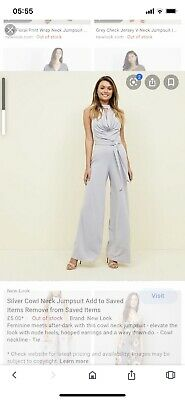 New Look Size 8 Grey/ Silver Jumpsuit • 4£