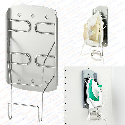 Ikea Iron Holder Steel Wall Mounted Storage Plate For Steam Iron & Cord VARIERA • 9.98£