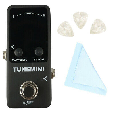 $ CDN35.51 • Buy Mini Chromatic Guitar Bass Tuner Pedal 4 Mode With 3 Picks & Cleaning Cloth