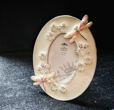 Past Times - ELEGANCE Metal Enameled Dragonfly Picture Frame FOR 2  X 3  Photo • 5.99£