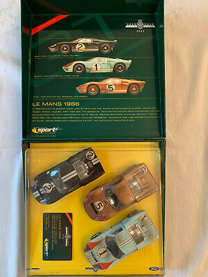 Scalextric Ford GT40 Le Mans 1966 Goodwood Festival Of Speed 2003 Set Of 3 Cars • 37£