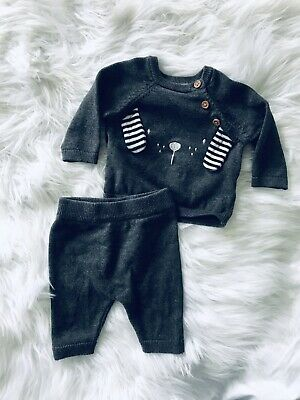 Baby Boy Animal Print Leggings And Jumper Set Up To One Month TU • 0.99£