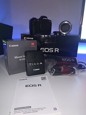 View Details Canon EOS R 30.3MP Digital Camera - Black (Kit With Mount Adapter EF-EOS R) • 1,529.00£