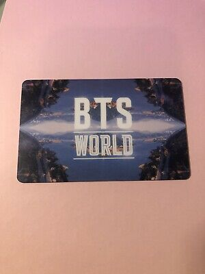 $5 • Buy BTS WORLD Limited Edition Photocard Official ( BTS )