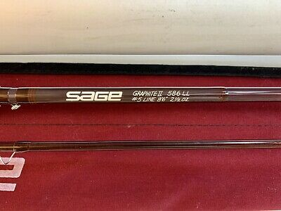 $120.50 • Buy SAGE 586LL Graphite II (Light Line) 5wt 8'6  Fly Fishing Rod W Orig Sock & Tube
