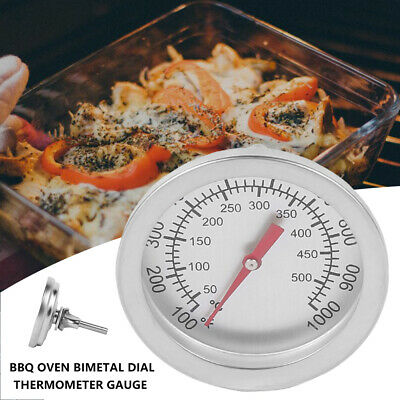 Stainless Steel BBQ Cooking Smoker Grill Thermometer Temperature Gauge 50-500 UK • 4.49£