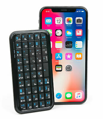 Mini Bluetooth 'QWERTY' Wireless Keyboard For Apple IPhone 3G / 3GS / 4 / 4S • 14.99£