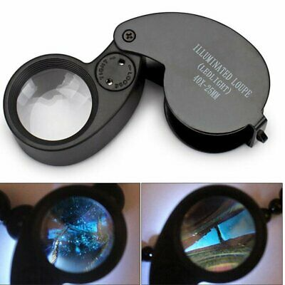 Jewellers Jewellery 40x-25mm Loupe Magnifying Glass Magnifier Glass Eye Lens • 4.29£