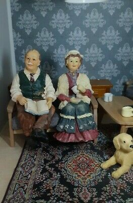 Dolls House 1:12 Scale Resin Grandparent Figures • 10.50£