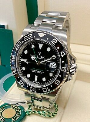 $ CDN21121.33 • Buy Rolex GMT Master II 116710LN 40mm Black Dial Ceramic Bezel 2019 WITH PAPERS